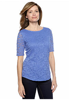 Madison Elbow Sleeve Lace Top
