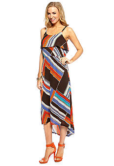 Madison Printed Popover Hi-Lo Maxi Dress
