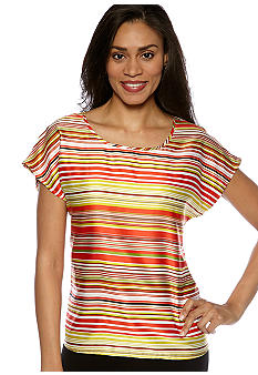 Madison Striped Boxy Top