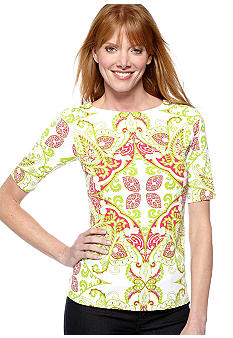 Madison Paisley Print Top