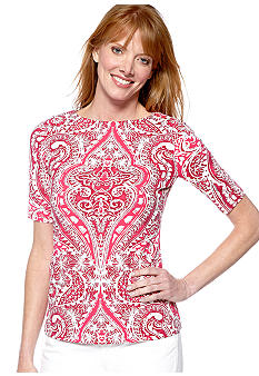 Madison Medallion Print Top
