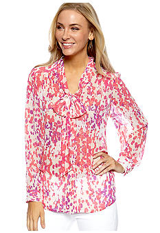 Madison Print Bow Blouse