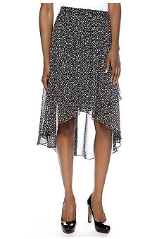 Madison Hi-Lo Polka Dot Skirt
