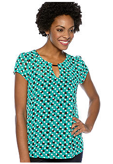 Madison Dot Print Top