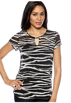 Madison Woven Zebra Print Top