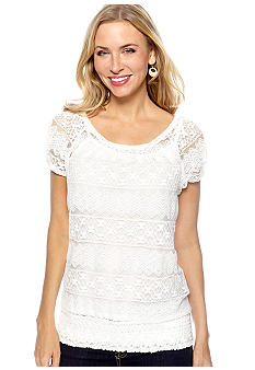Madison Cap Sleeve Lace Pullover