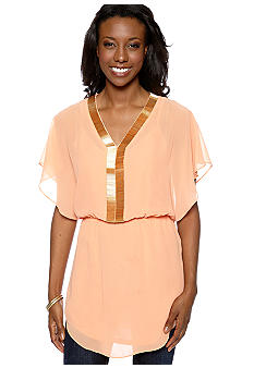 Madison Beaded V-Neck Tunic