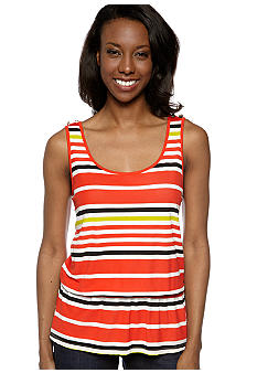 Madison Sleeveless Striped Mesh Top