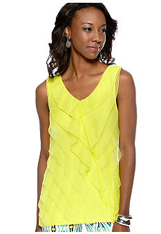 Madison Sleeveless Tiered Tank