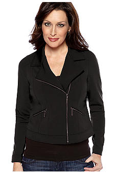 Madison Knit Moto Jacket with Zipper Detail