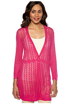 Madison Pointelle Cardigan