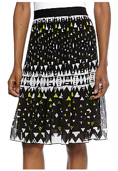 Madison Print Pleated Skirt