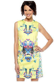 Hannah by Hannah Goff Woven Jewel Neck Shift Dress