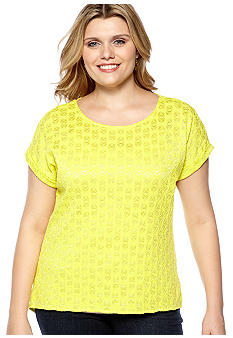 Madison Plus Size Knit Back Lace Top