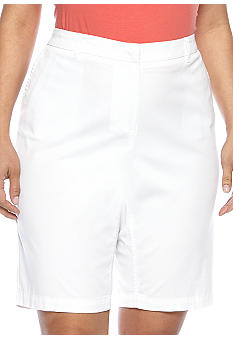 Madison Plus Size Flat Front Bermuda Short