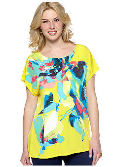 Madison Plus Size Boxy Floral Top