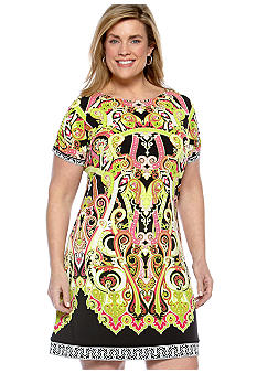 Madison Plus Size Placement Print Dress