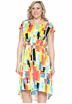 Plus Size Hi-Lo Dress