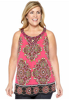 Madison Plus Size Embellished Tank