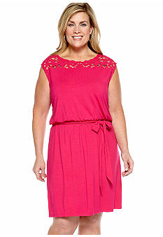 Madison Plus Size Eyelet Dress