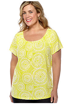 Madison Plus Size Printed Knit Top