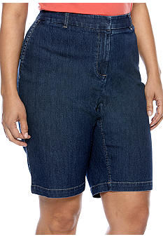 Madison Plus Size Denim Bermuda Short