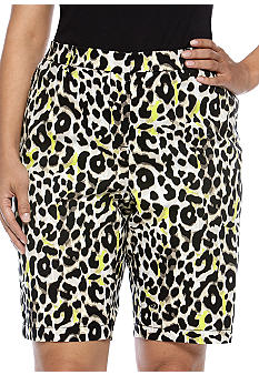 Madison Plus Size Cheetah Bermuda Short