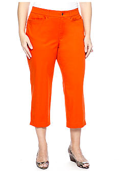 Madison Plus Size Twill Crop Pant
