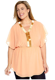 Madison Plus Size V Neck Tunic