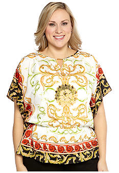 Madison Plus Size Open Sleeve Woven Shirt