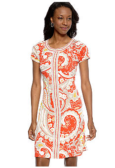 Madison Petite Abstract Print Dress