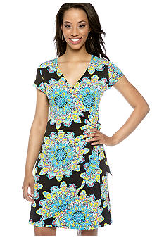 Madison Petite Faux Wrap Dress
