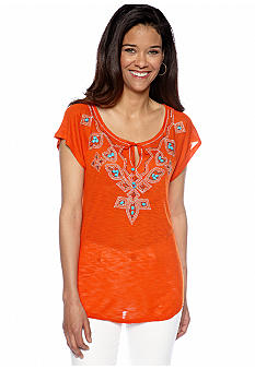 Madison Petite Beaded Raglan Sleeve Top