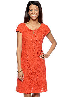 Madison Petite Crochet Lace Dress