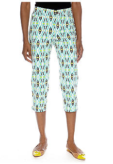 Madison Petite Southwest Ikat Crop Pant