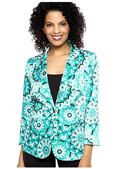 Madison Petite Status Print Jacket