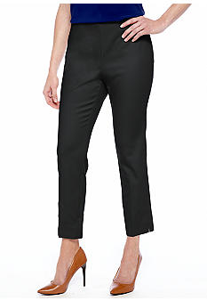 Madison Petite Side Zip Ankle Pant