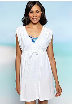 Kim Rogers Crochet Shoulder Surplice Cover-Up