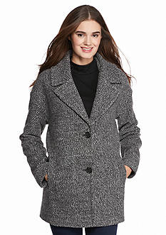 Celebrity Pink Wool Boyfriend Notch Collar Coat