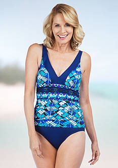 Maxine Geo Days Shirred V One Piece