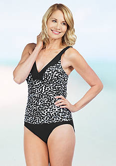 Maxine Spot Off Shirred Side Mio One-Piece