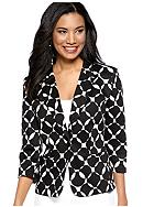 Kim Rogers® Three Quarter Sleeve Printed Blazer