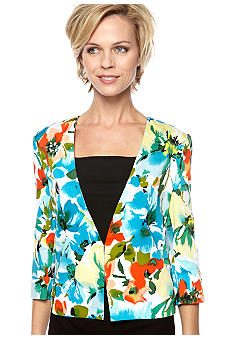 Kim Rogers Printed Collarless Jacket