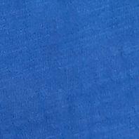 Women's T-shirts: Deep Azure Kim Rogers Solid Crochet Neckline Tee