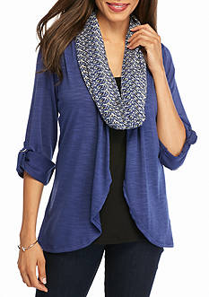 Kim Rogers 3Fer Top with Scarf