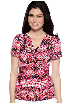 Kim Rogers All Over Crisscross 2Fer Top