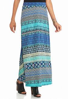 Kim Rogers Print Ity Center Slit Skirt