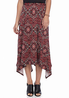 Kim Rogers Allover Printed Seamed Skirt