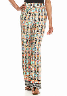 Kim Rogers Border Print Soft Pants