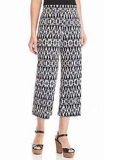 Kim Rogers Printed Soft Gaucho Pants
